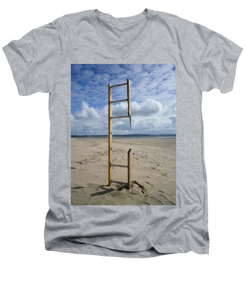 Stairway To Heaven Men's V-Neck T-Shirt by Richard Brookes