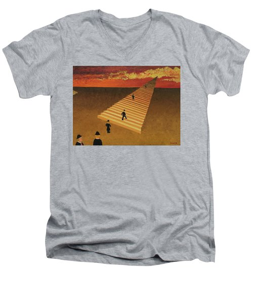 Stairway To Heaven Men's V-Neck T-Shirt by Thomas Blood