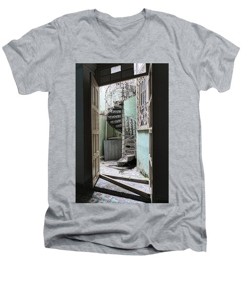 Stairway To Up Men's V-Neck T-Shirt