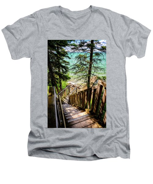 Stairways To Paradise Men's V-Neck T-Shirt