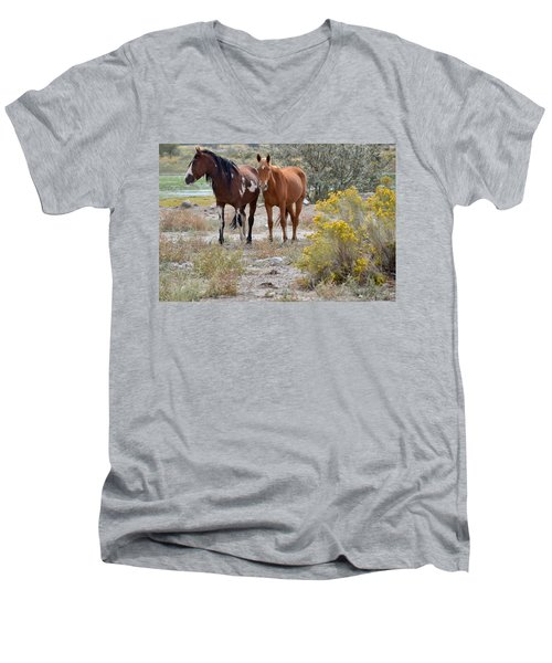 Stallion And Mare Men's V-Neck T-Shirt
