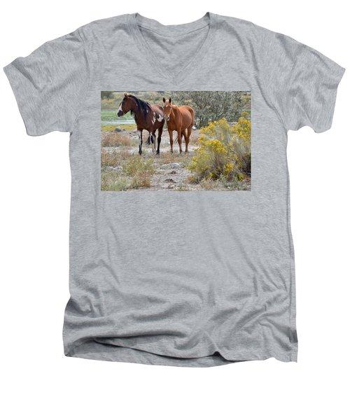 Stallion And Mare Men's V-Neck T-Shirt