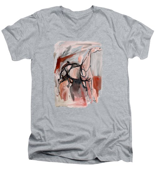 Stand Alone Bold One Men's V-Neck T-Shirt by Mary Armstrong