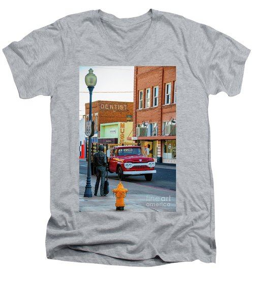 Standin On The Corner Park Men's V-Neck T-Shirt