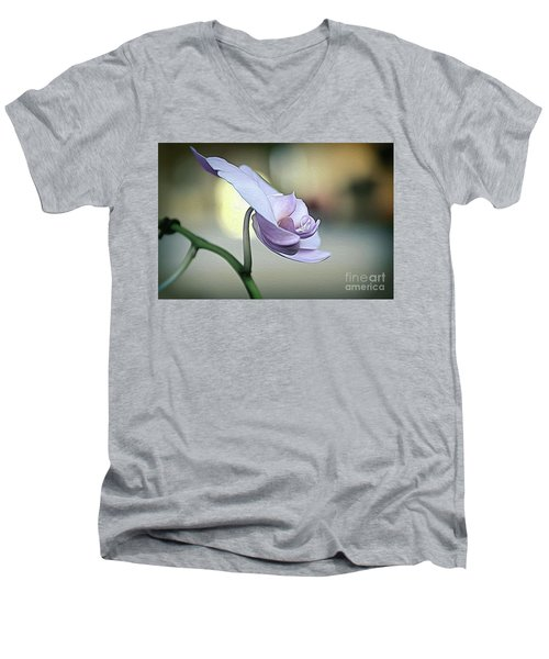 Standing Alone In Silence Men's V-Neck T-Shirt