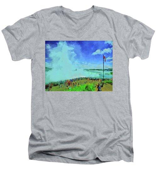 Standing On The Brink Men's V-Neck T-Shirt