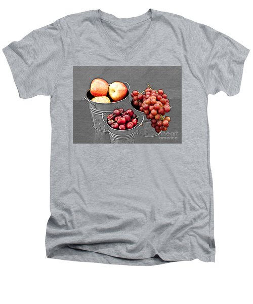 Men's V-Neck T-Shirt featuring the photograph Standing Out As Fruit by Sherry Hallemeier