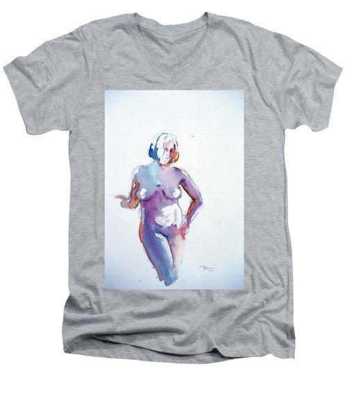 Standing Study Men's V-Neck T-Shirt