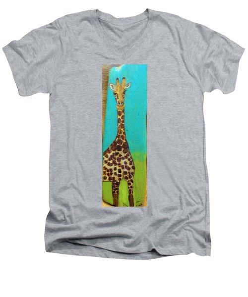 Standing Tall Men's V-Neck T-Shirt by Ann Michelle Swadener