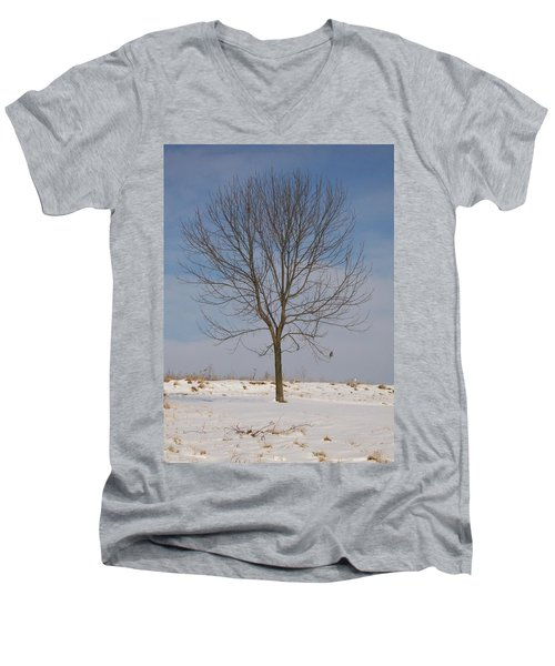 Men's V-Neck T-Shirt featuring the photograph Standing Tall by Sara  Raber