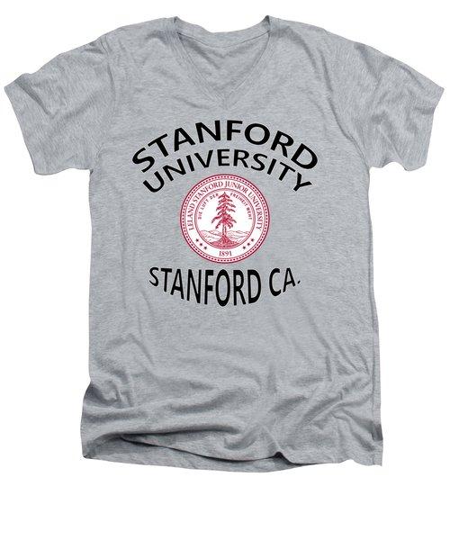 Stanford University Stanford California  Men's V-Neck T-Shirt by Movie Poster Prints