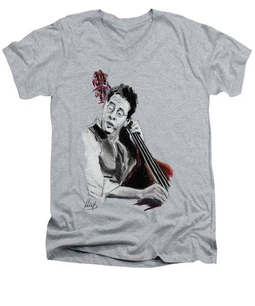 Stanley Clarke Men's V-Neck T-Shirt by Melanie D