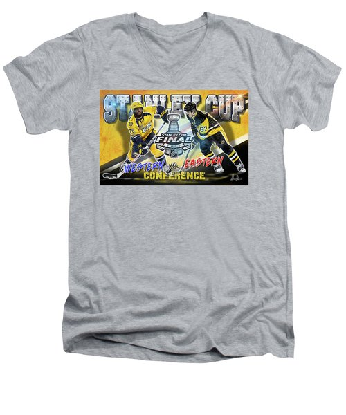 Stanley Cup 2017 Men's V-Neck T-Shirt by Don Olea