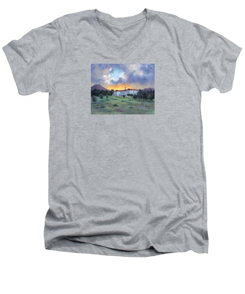 Stanley Hotel Sunset Men's V-Neck T-Shirt