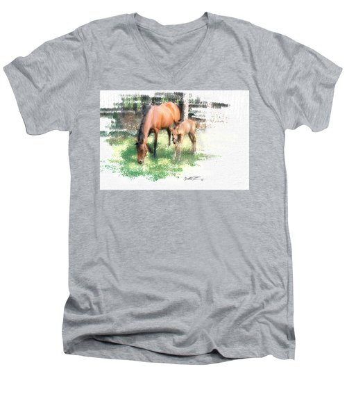 Star And Her Colt Men's V-Neck T-Shirt
