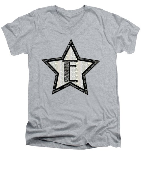 Star Of The Show Art Deco Style Letter E	 Men's V-Neck T-Shirt