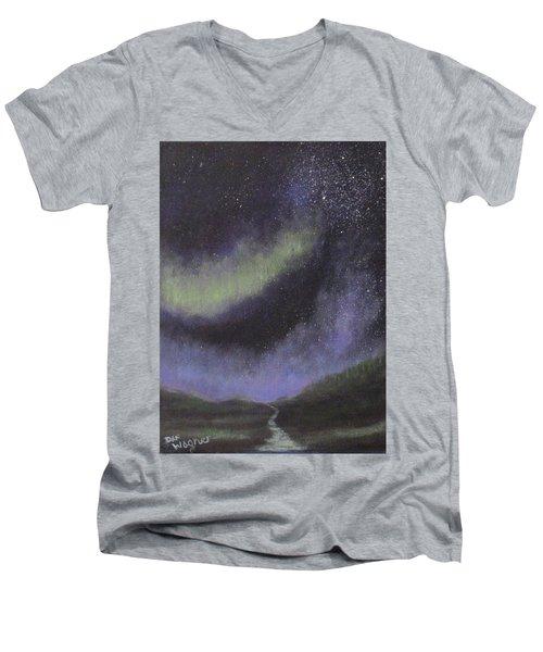 Star Path Men's V-Neck T-Shirt