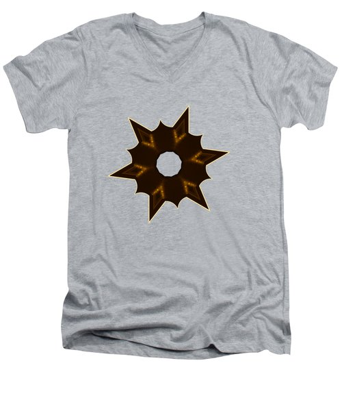 Star Record No. 2 Men's V-Neck T-Shirt by Stephanie Brock