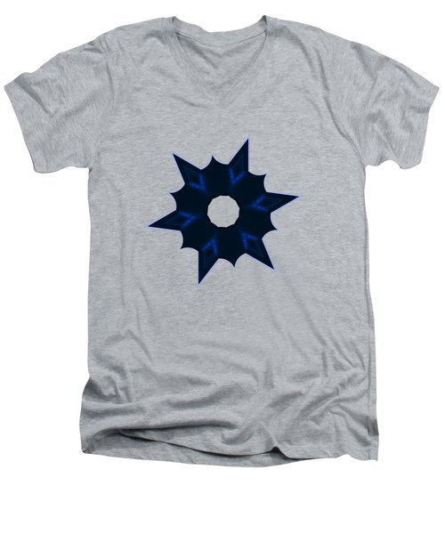 Star Record No. 3 Men's V-Neck T-Shirt by Stephanie Brock