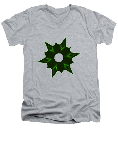 Star Record No. 4 Men's V-Neck T-Shirt by Stephanie Brock
