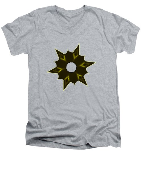 Star Record No. 5 Men's V-Neck T-Shirt by Stephanie Brock
