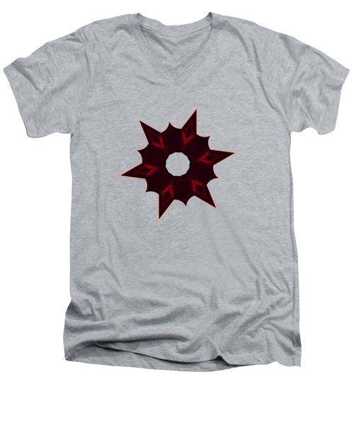 Star Record No. 6 Men's V-Neck T-Shirt by Stephanie Brock
