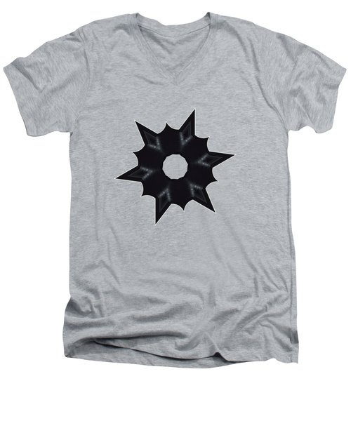 Star Record No.1 Men's V-Neck T-Shirt by Stephanie Brock