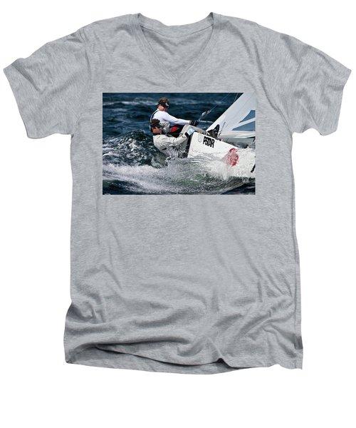 Star Splash Men's V-Neck T-Shirt