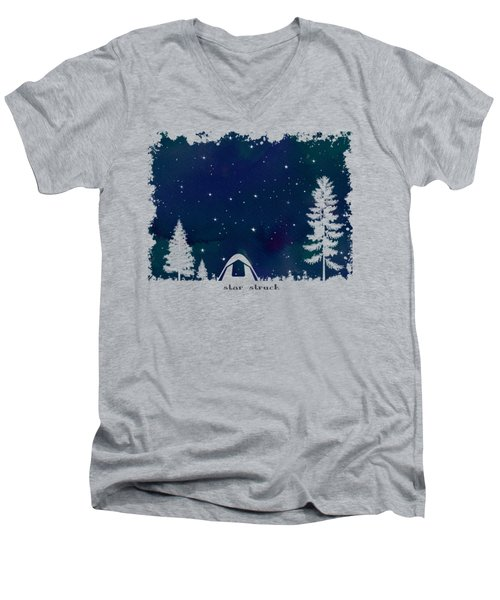 Star Struck Men's V-Neck T-Shirt by Heather Applegate