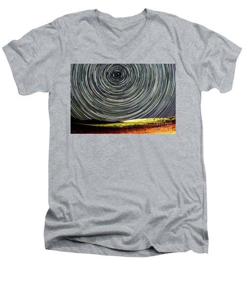 Star Trail Men's V-Neck T-Shirt