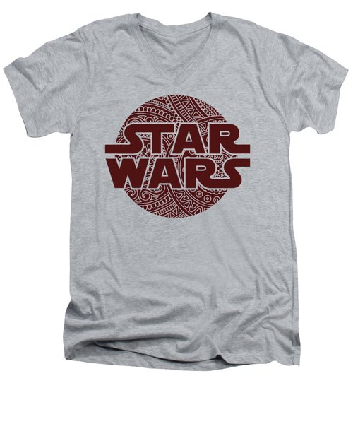 Star Wars Art - Logo - Red 02 Men's V-Neck T-Shirt