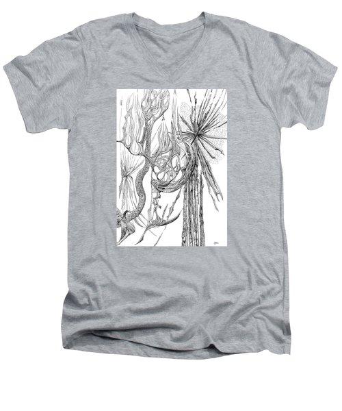 Starburst Men's V-Neck T-Shirt by Charles Cater