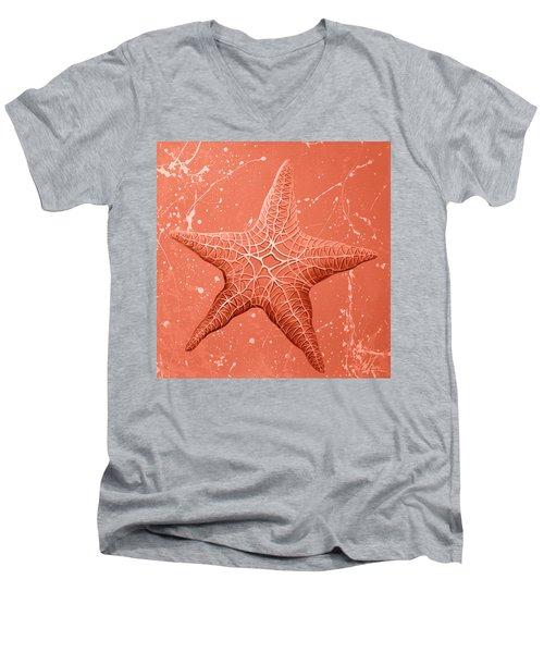 Starfish In Pink Men's V-Neck T-Shirt