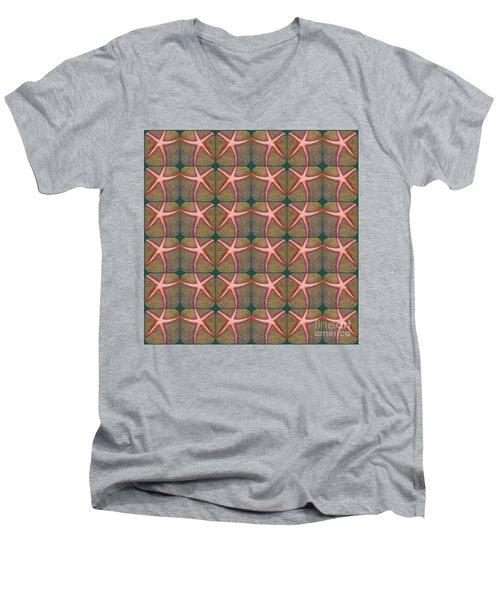 Starfish Pattern Men's V-Neck T-Shirt