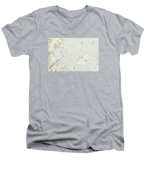 Starfish.... Men's V-Neck T-Shirt by Tammy Schneider