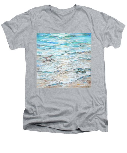 Starfish Under Shallows Men's V-Neck T-Shirt