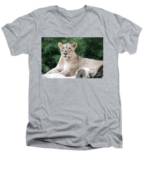 Staring Men's V-Neck T-Shirt