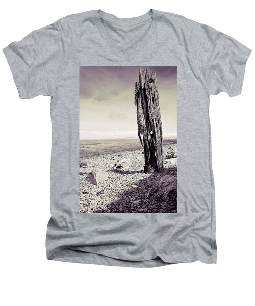 Men's V-Neck T-Shirt featuring the photograph Stark Reality by Keith Elliott