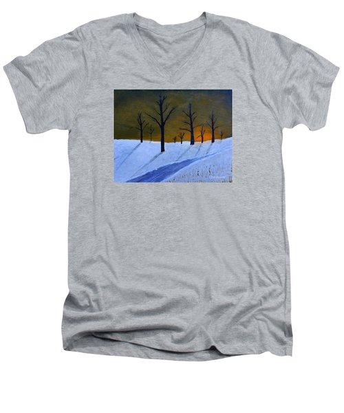 Stark Winter Sunset Men's V-Neck T-Shirt