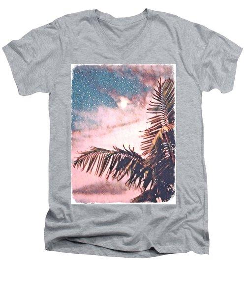 Starlight Palm Men's V-Neck T-Shirt