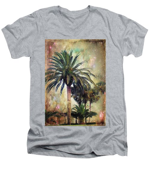 Men's V-Neck T-Shirt featuring the photograph Starry Evening In St. Augustine by Jan Amiss Photography