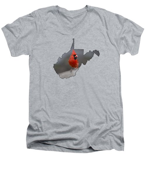 State Bird Of West Virginia Men's V-Neck T-Shirt by Dan Friend