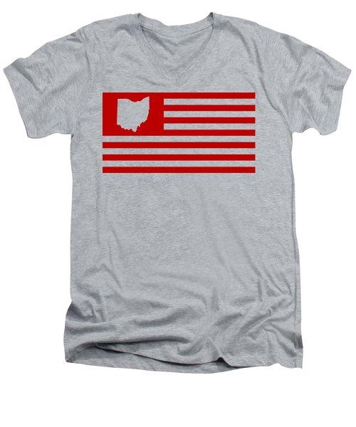 State Of Ohio - American Flag Men's V-Neck T-Shirt