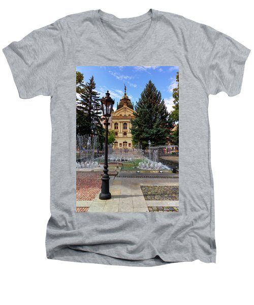 State Theater In The Old Town, Kosice, Slovakia Men's V-Neck T-Shirt