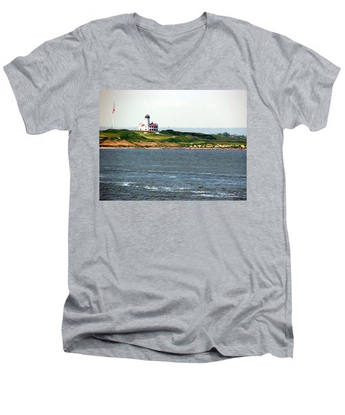 Staten Island Men's V-Neck T-Shirt by Judi Saunders