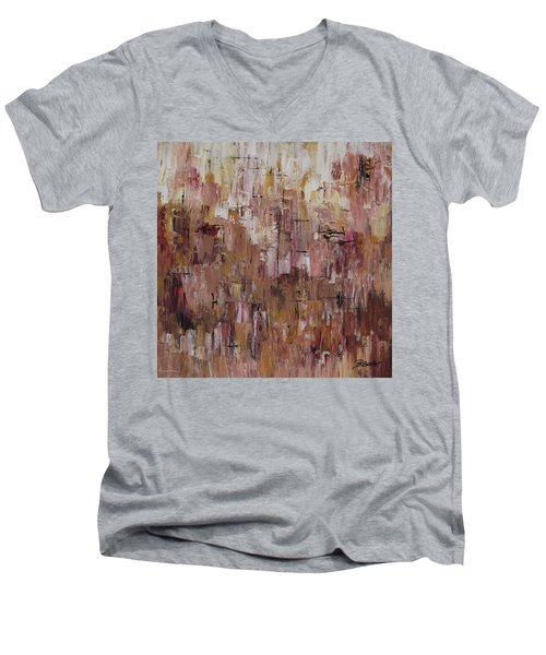 Static Men's V-Neck T-Shirt by Roberta Rotunda