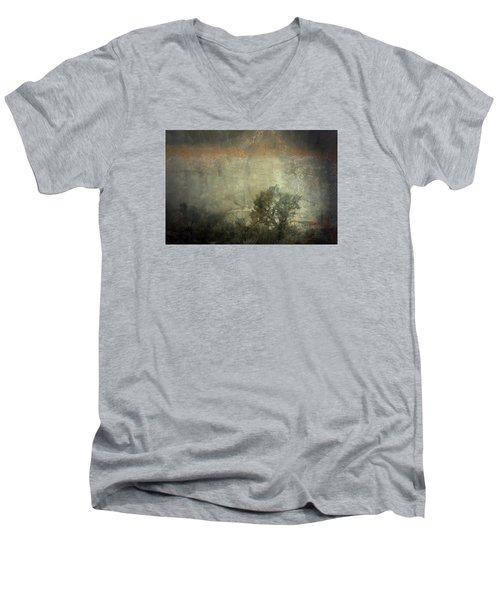 Station  Men's V-Neck T-Shirt by Mark Ross