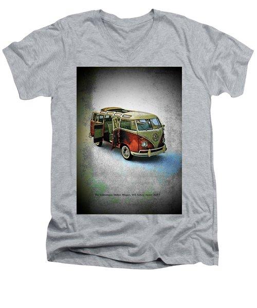 Station Wagon Men's V-Neck T-Shirt by John Schneider