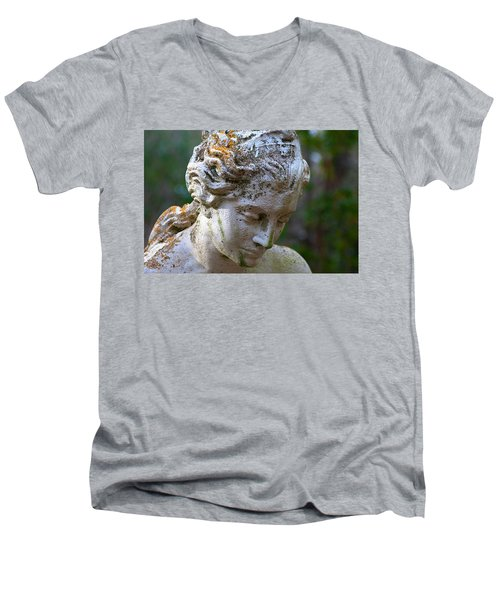 Statue At Magnolia Gardens Men's V-Neck T-Shirt