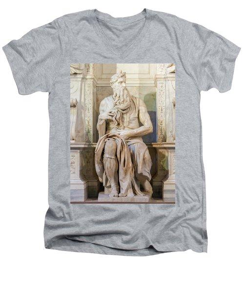 Statue Of Moses Men's V-Neck T-Shirt